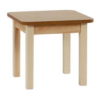 Mesa madera geriátrico 55 cm. de altura - Estructura en madera de haya maciza de 1ª calidad, sin nudos, con ensambles ocultos, patas de 55 x 55. Barnizado con poliuretano.Pulse sobre la foto para ver mas detalles.