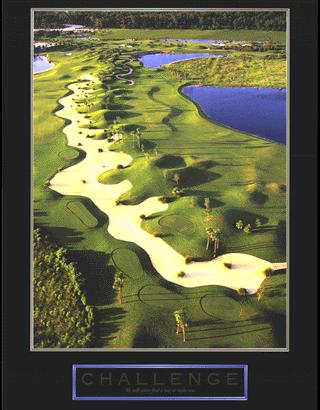"""Cuadro Challenge (Golf) - """"El texto del cuadro dice: """"""""We will either find a way or make one."""""""""""""""