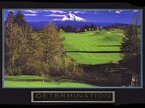 "Cuadro Determination (Golf) - ""El texto del cuadro dice: """"Ability may get you to the top, but it takes character to keep you there."""""""