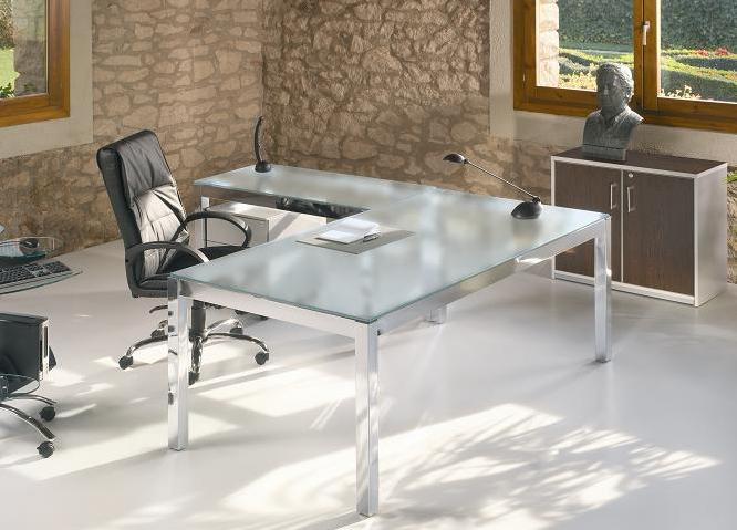 Muebles de oficina madrid sillas de oficina mobiliario de for Mesa cristal oficina