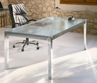 Mobiliario de oficina muebles de oficina mesas y for Mesa cristal oficina