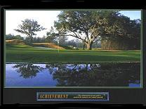 Cuadro Achievement Golf - El texto del cuadro dice The achievement of your goal is assured the moment you commit yourself