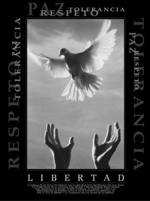 """Cuadro Libertad - """"El texto del cuadro dice: """"""""La libertad es un don y un derecho con el que nace todo ser humano, del cual nadie nos puede privar. Es la capacidad de escoger y decidir nuestros destino para desarrollar al máximo nuestro potencial..."""""""""""""""