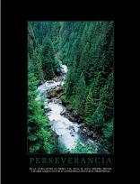"""Cuadro Perseverancia - """"El texto del cuadro dice: """"""""Es la lucha entre la piedra y el agua, el agua siempre triunfa y se abre camino, no por su consistencia sino por su persistencia."""""""""""""""