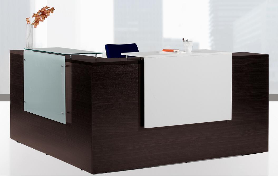 Mobiliario de oficina recepciones mostradores salas de espera for Mobiliario de oficina recepcion