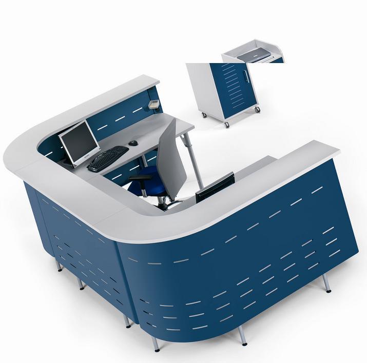 Mostrador recepci n mobiofic muebles de oficina for Mobiliario de oficina recepcion