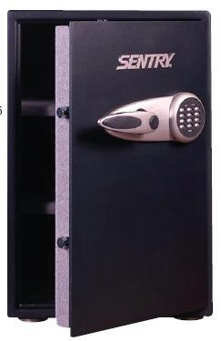 Caja de seguridad antirrobo - » Caja de seguridad con cierre electrónico apto para 6 claves de seguridad, llave de desbloqueo en caso de olvido o pérdida del código de seguridad (juegos de llaves incluidos), 2 cerrojos de seguridad, 2 estanterías forradas en felpa extraíbles y aju