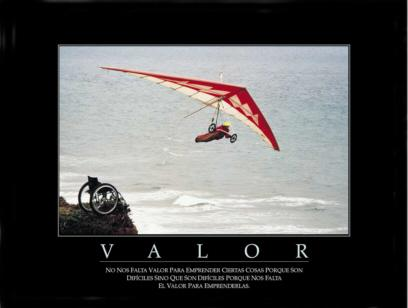 """Cuadro Valor - """"El texto del cuadro dice:""""""""No nos falta valor para emprender ciertas cosas porque son difíciles, sino que son difíciles porque nos falta valor para emprenderlas."""""""""""""""