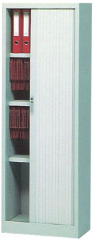 Armario de persiana con 1 puerta vertical - Armario de persiana con 1 puerta vertical con 4 estantes. Medidas 200cm de alto x 60cm de ancho x 45cm de fondo