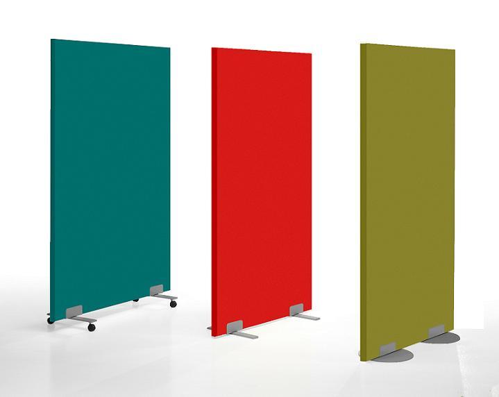 Biombos de separaci n tapizados en tela biombos de oficina for Separadores de oficina