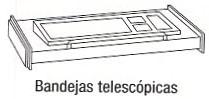 Bandeja telescópica - Bandeja telescópica. Medida 80cm de largo