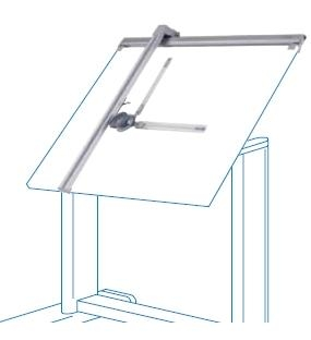 Técnigrafos de aluminio - Tecnígrafos de aluminio de gran calidad. Incorpora grupo goniómetro de 360º y pulsadora de saltos a cada 15º. Fácil montaje.