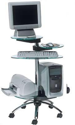 Mesa de ordenador m vil muebles de oficina sillas de - Mesa para ordenador con ruedas ...