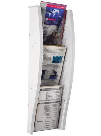 EXpositor mural - Expositor mural con 5 compartimentos Medidas:18 x 175 x 151 mm (fondo x ancho x alto) Formato de Papel:Formato Din A-5 vertical