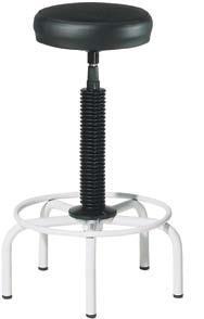 taburete  - Taburetes con estructura metálica y base de 5 pies. El asiento se regula mediante husillo giratorio. Fácil montaje.  RUEDAS OPCIONALES : 9.45€