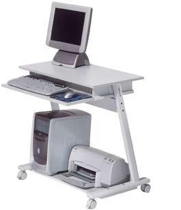 Casas cocinas mueble mesas para ordenador con ruedas - Mesa para ordenador con ruedas ...
