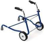 Andador infantil - Andador infantil. Fabricado en Acero Esmaltado Cromado. Ruedas delanteras. Altura regulable manualmente mediante maniquetas.