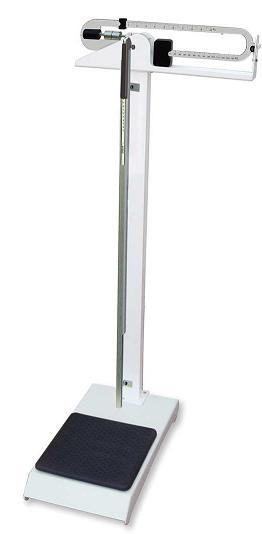 Báscula - Báscula mecánica fabricada en Acero Esmaltado epoxi, a doble romana. Calibrada y verificada garantizando los resultados. Regla graduada con indicaciones de fácil lectura. Patas niveladoras. Tallimetro telescópico con indicador abatible de 95 a 200 cms. Plataforma de acero con goma antideslizante. Capacidad: 150 Kilos. División: 100 Gramos.