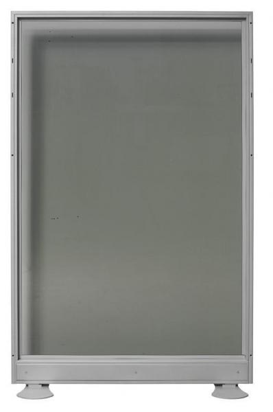 Biombo de cristal doble - Biombo de cristal doble. Medidas 100cm de ancho x 150cm de alto
