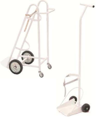 Carros - Carros porta balas de oxigeno. Estructura de Acero Esmaltado epoxi. Con correa de sujeción para fijación de botella. Con ruedas para su mejor desplazamiento