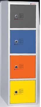 Consignas - • Fabricado en chapa de acero laminado en frío de 0,8 mm de espesor. • Estructura soldada, monoblok. • Pintado en epoxi en polvo. • Color standard: Gris.