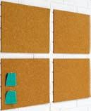 Corchos autoadhesivos - Corchos autoadhesivos Pack de 4 placas de corcho natural de 5 mm. autoadhesivos.