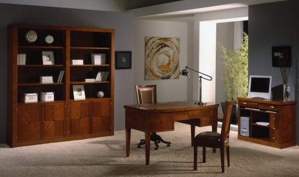 Despacho de oficina cl sico mobiofic - Muebles despacho casa ...