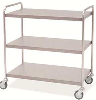 Carro de distribución - Carro distribución. Fabricado en Acero Inox. Dos, tres ó cuatro estantes lisos. Cuatro ruedas para su mejor desplazamiento.