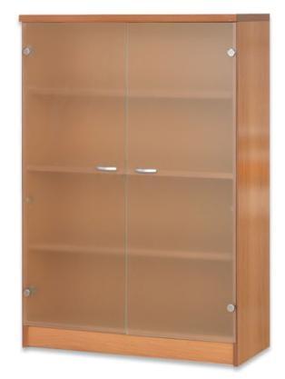 Estantería de biblioteca - Estantería de biblioteca Medida: 106 alto x 92 ancho x 32 fondo Puertas opcionales.