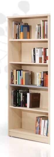 Estantería de biblioteca - Estantería de biblioteca Medida: 136 alto x 92 ancho x 32 fondo