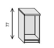 Estantería de biblioteca - Mueble de biblioteca Medida: 77 alto x 47 ancho x 32 fondo