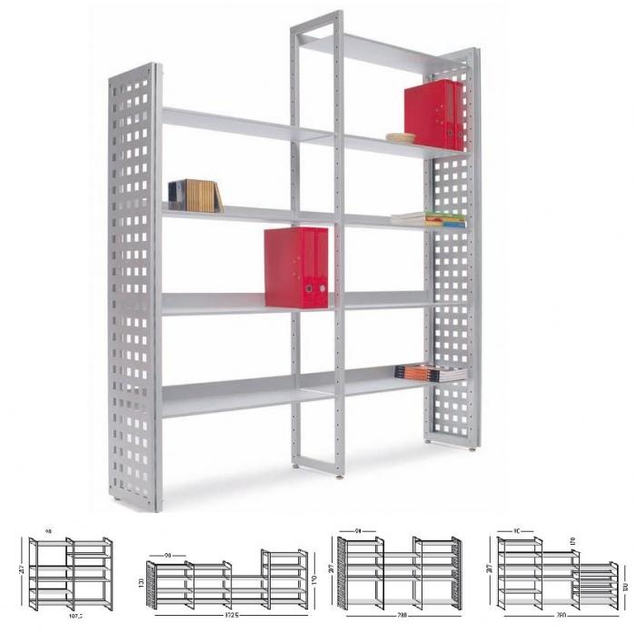 Estanter a met lica accesorios de oficina mobiliario de - Estanterias modulares metalicas ...