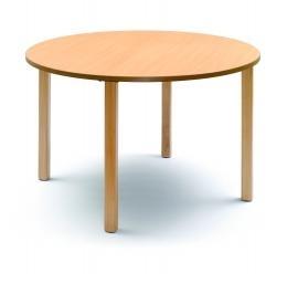 Mesa - Mesa 4 patas sin friso, estructura de madera de haya maciza. Tapa en estratificado. Diversas medidas y alturas.