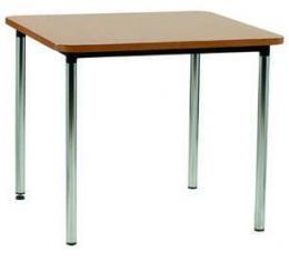 Mesa - Mesa 4 patas, estructura en tubo de acero. Tapa en estratificado. Diversas medidas y alturas.