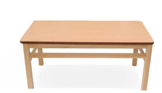 Mesa geriátrica - Mesa geriátrico. Mesa con estructura y encimera con cantos redondeados para evitar golpes.  Muy robusta y especialmente diseñada para ambientes de uso intensivo.