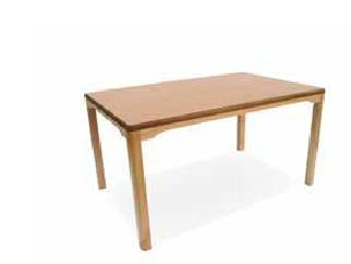 Mesa de geriátrico - Mesa geriátrico. Mesa con estructura en madera de haya y hueco  de 75 cm hasta el marco. Permite el acceso con sillas, sillones y sillas de ruedas.  Esquinas redondeadas en las encimeras para evitar golpes.