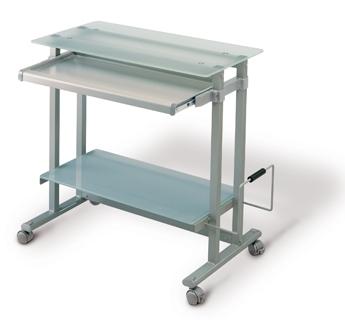 Puesto informático - Superficie: 78x45  Altura: 81 cm  Carga máxima: 50 kg