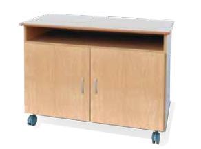 Muebles TV - Mesa de televisión  Fabricada en melamina de 19 mm. Encimera en canteada y barnizada. Tapas con cantos redondeados para evitar golpes. Con ruedas para facilitar su transporte.