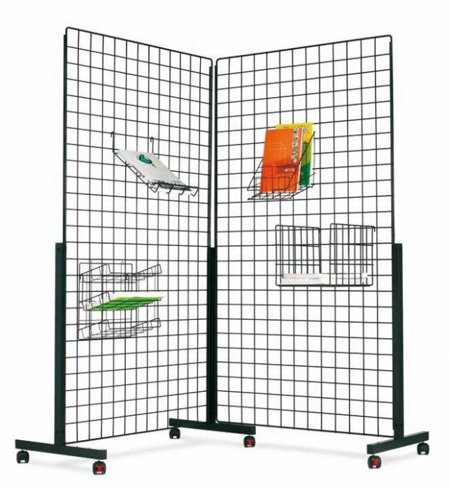 Paneles rejilla met licos muebles de oficina sillas de for Biombos metalicos