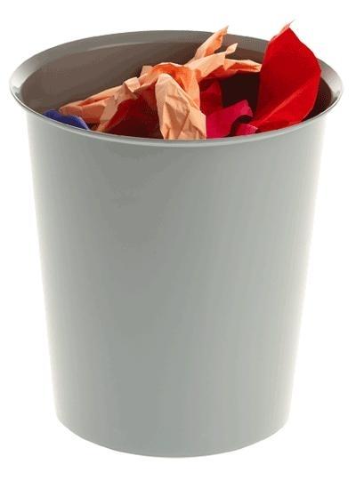 Papelera - Papelera  Incorporación de un aro sujeta bolsas (opcional). Apilable. Colores opacos. Medidas:290 x 310 mm (fondo x ancho x alto)