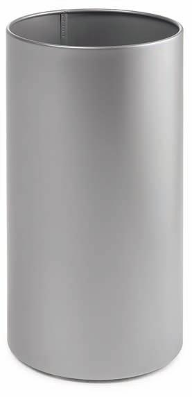 """Papelera Pieno - Papeleras """"Pieno"""" Gama de papeleras de chapa pintada epoxi color gris. Disponibles en 37 y 50 cm. de altura y 25 cm., de diámetro. Ideales para la oficina y el hogar. Bajo pedido pueden solicitarse en colores burdeos, azul y negro. Opcional cubetas de colores."""