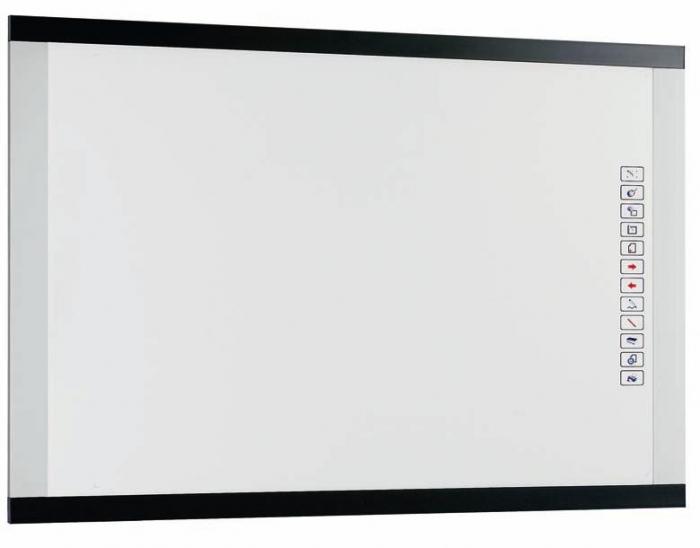 """Pizarra interactiva """"PS"""" - Pizarra interactiva """"PS"""" Pizarra interactiva electromagnética que permite mediante la conexión a un PC/portátil, videoproyector y un lápiz digital (incluido): escribir, borrar, copiar, pegar, imprimir y guardar la información en el PC. Ideal para salas de reunión, escuelas, presentaciones..."""