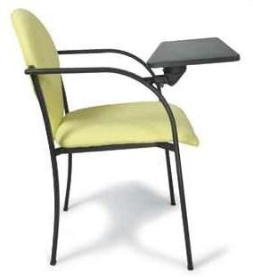 Silla de oficina con pala - Silla confidente, respaldo y asiento fabricado en recuperado reciclado, al igual que la contra del respaldo dando opción de instalarla en PVC. Apilables entre ellas.