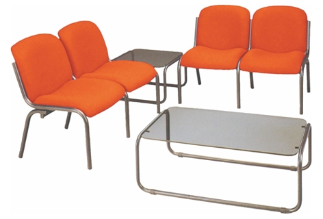 Sala de espera - Sala de espera - Módulo para salas de espera/recepciones - Asiento y respaldo tapizados. - Gomaespuma asiento densidad 30 y respaldo de 25 m.m. - Módulo de 1 ó 2 plazas. - Estructura 4 patas en epoxi negro epoxi gris tubo de 32 x 1,5mm.  Se vende por separado