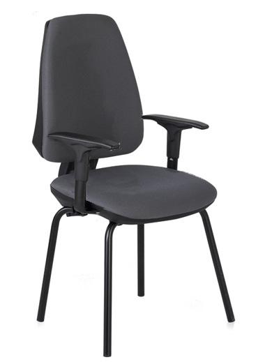 Silla confidente - Silla confidente  Estructura de acero  4 patas  Brazos  Mecanismo de Contacto Permamente  Brazos opcionales.