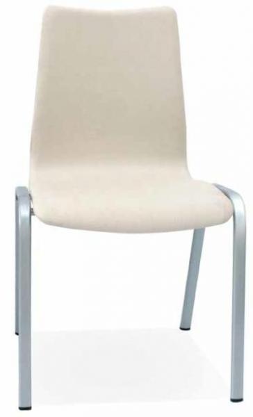 Silla geriátrico - Silla geriátrico Con un diseño discreto y práctico que encaja perfectamente en cualquier espacio sin desentonar. Disponible en versión tapizada o de carcasa de madera barnizada.  Apilable para una mayor facilidad de uso.