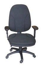 Silla de oficina - Silla operativa  Diseño ergonómico y con ajustes personalizables. Tapizada en tejido con espuma inyectada y disponible en varios colores.