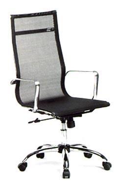 Sillón Dirección de asiento y respaldo alto en red - Sillón de Dirección de asiento y respaldo alto en red. Brazos y base cromada con ruedas de 5 radios.  Colores Disponibles: Negro, Gris y Blanco.