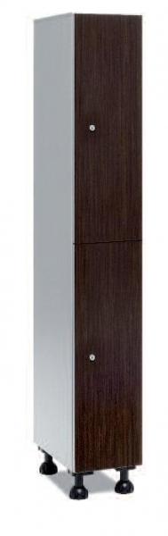 Taquilla hidrofuga puertas melamina - Taquilla de melanina hidrófuga, puertas melamina. Soportes de barra aluminio. Patas de PVC. Posibilidad combinación con otros materiales. Resistente a limpieza agresiva. Cuerpo aluminio, puerta amplia gama de colores. Se sirven montadas.