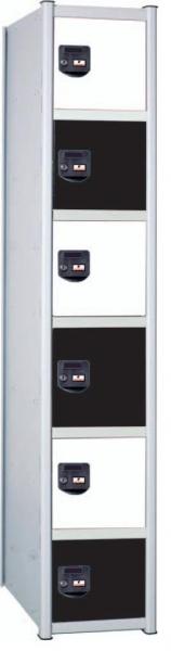 Taquilla modular - Taquilla modular Fácil montaje No recomendable para espacios húmedos Gran resistencia Cerradura de llave Taquilla metálica. Pintada en epoxi.Trasera y bandeja galvanizadas. Cuerpo gris, puerta azul. Roseta de ventilación. Etiquetero y tirador integrado Llave abisagrada.